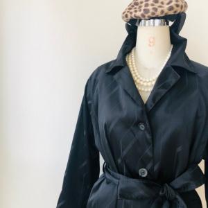 着物着物リメイク/雨コートからトレンチコート