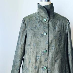 着物着物リメイク/着物からAラインコート