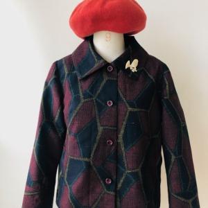 着物着物リメイク/着物からショートジャケット