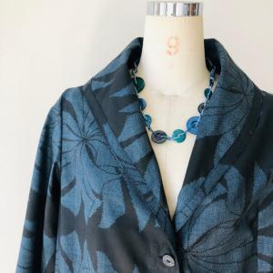 着物着物リメイク/大島のお着物からふわっとコート