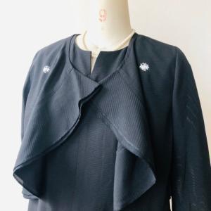 着物リメイク・絽の着物からボレロ