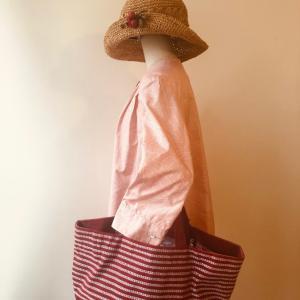 着物リメイク・大島のお着物からワンピース