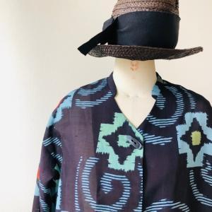 着物リメイク・夏のお着物からロングコート
