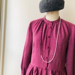 着物リメイク・小紋のお着物からワンピース