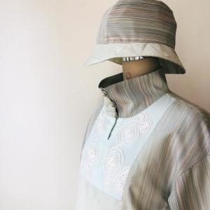 着物リメイク・お着物からパンツとトップスのセットアップ