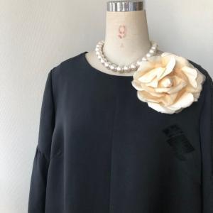 着物リメイク・羽織からフェミニンワンピ
