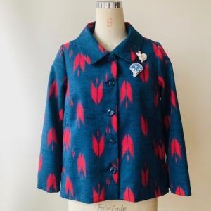 着物リメイク・着物からショートジャケット