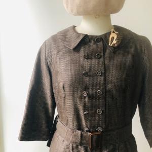 着物リメイク・着物からレトロなワンピース