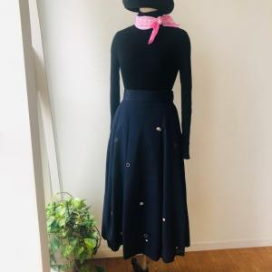 着物リメイク・お召しの着物からマキシスカート