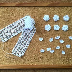 ミニバッグ《水玉&白バラのレース》3