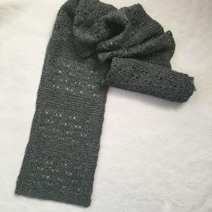 棒針編みの2Wayスヌード1