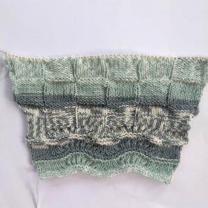 棒針編みのプルオーバー7