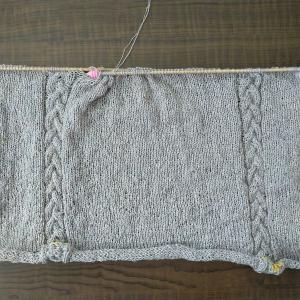 棒針編みのチュニック1