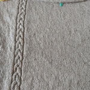 棒針編みのチュニック2