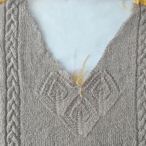 棒針編みのチュニック3