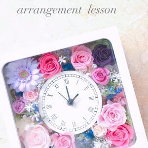 【生徒様作品】プリザーブドフラワー花時計は、プレゼントに人気なんです✨