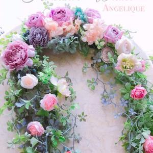 【生徒様作品】幸せを呼ぶ馬蹄形リース2作品✨テーブル装花にもなる2way仕様を実現!