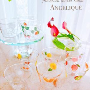 【生徒様作品】夏らしいグラス作品も可愛らしく✨プリンカップandワンチャン用トレイ
