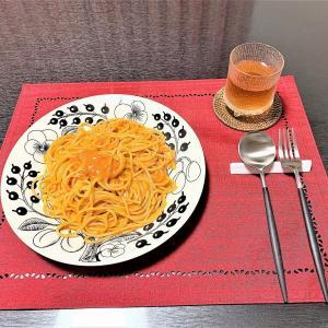ある日のおうちごはん。。。お夜食パスタ
