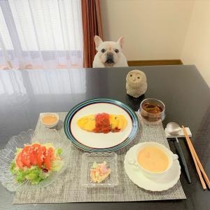 オムライス朝食と大事な家族