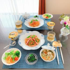 ある日のおうちごはん。。。ナポリタン&野菜スープ