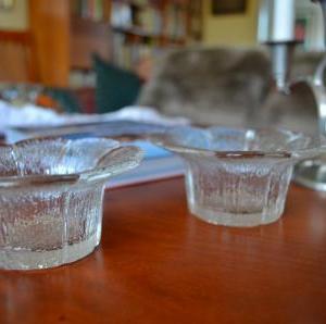 31.Mäntsälä Lasisepat 花びらシリーズのガラスキャンドルホルダー
