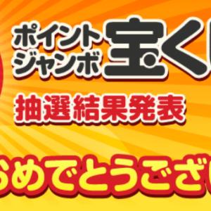 ECナビ☆「ポイントジャンボ宝くじ2019年11月号」当選結果発表~♪