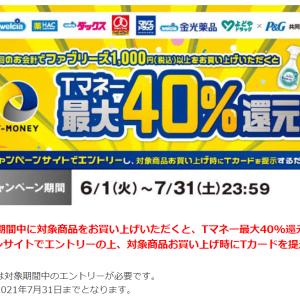 Tサイト☆明日まで!「ファブリーズを買って最大40%Tマネーキャッシュバックキャンペーン」実施中~☆彡