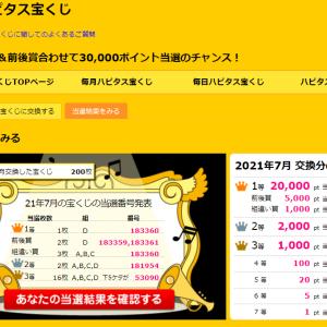 ハピタス☆「毎月ハピタス宝くじ」2021年7月号の当選結果発表~ヽ(´▽`)/