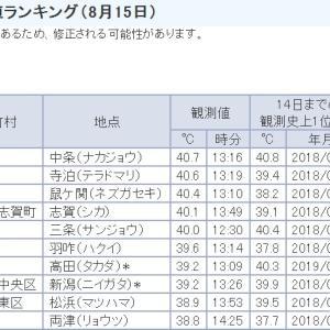 暑いぞ、新潟!8月15日