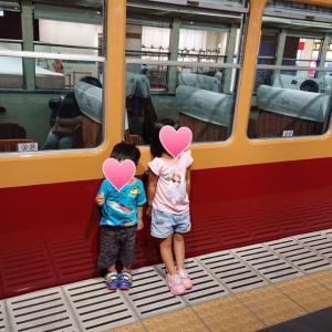 息子と電車 さんぜんひろば