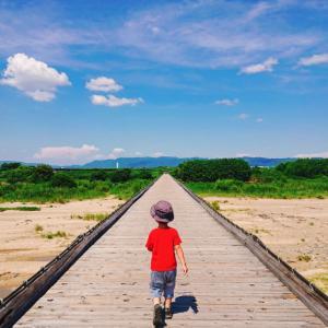 夏休み始まりと流れ橋