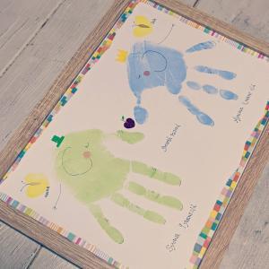 お店初!!可愛い手形アートのワークやります!♪