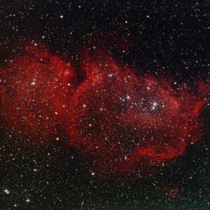 IC1848胎児星雲、赤子の手をひねるようには・・
