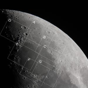 上弦前の月(北部) 月の地形100選巡り(Lunar100)