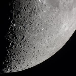 上弦前の月(南部) 月の地形100選巡り(Lunar100)