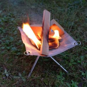 小さいソロキャンプツーリング用ミニ焚き火台をレビュー