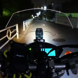 セローにウィンドスクリーンスポイラーを直付けして効果を検証