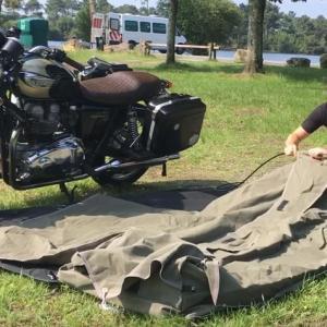 海外の最新バイクキャンプスタイル集!2つの流行アイテムとは