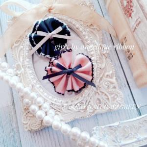 ピンクとブラックでgirly by angelique ribbon