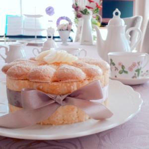 洋梨のシャルロットケーキを復習しました