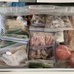 食材保存は冷凍庫です