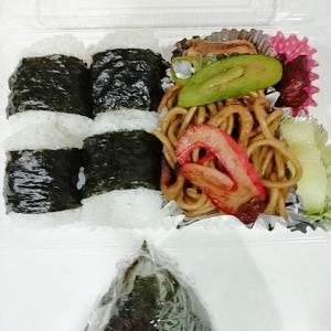 1月17日(日)のお弁当 鮭の塩焼き