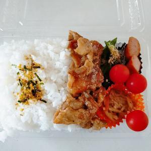 6月20日(日)のお弁当 豚のしょうゆ焼き