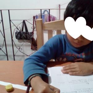 息子 算数文章問題始めました