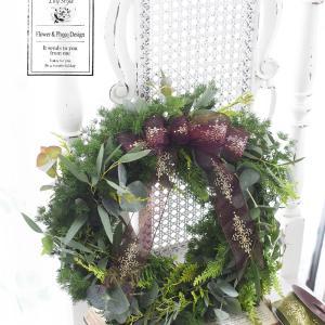 【募集】クリスマスレッスン2020 フレッシュグリーンのリース