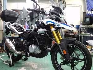 今日の作業はこちらのバイクから。