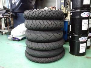 タイヤ交換6本完了のバイクはコチラ。
