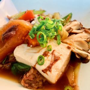 牛すね肉の和風煮込みからの肉豆腐