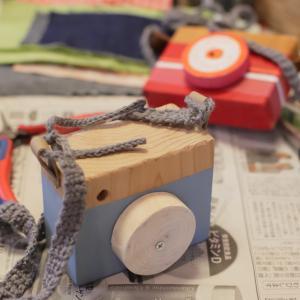 かわいい木のカメラを作っちゃいました